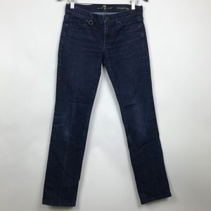 7For All Mankind 27 Jeans Straight Leg Inseam 30